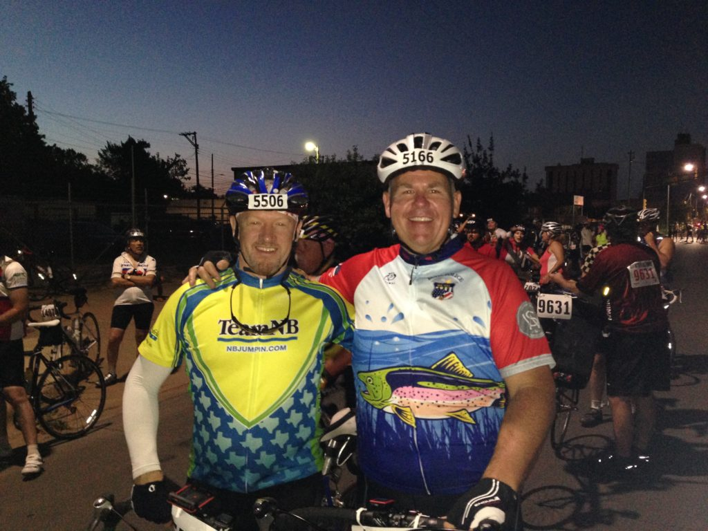 Charlie talked me into the HHH-100 mile bike race. We finished!