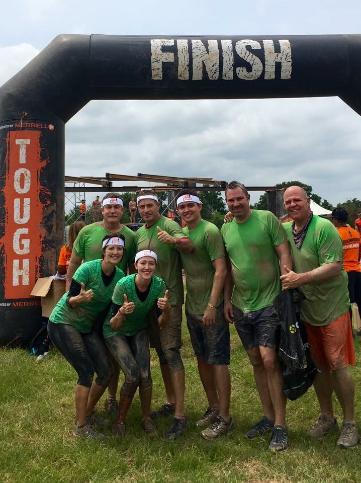 The Tough Mudder team that pulled me through the course. Real BMF's here.