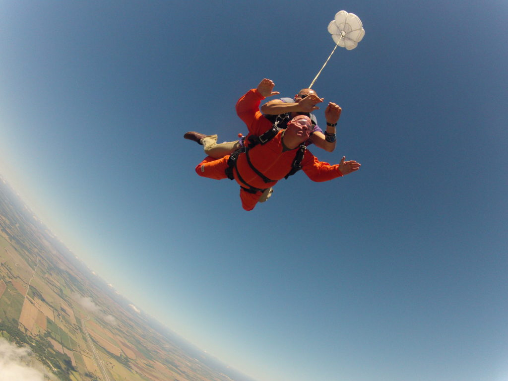 My 50th Birthday skydive. I was terrified!