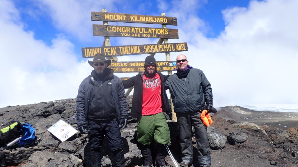 Kilimanjaro with fellow BMF's Russ and Chava