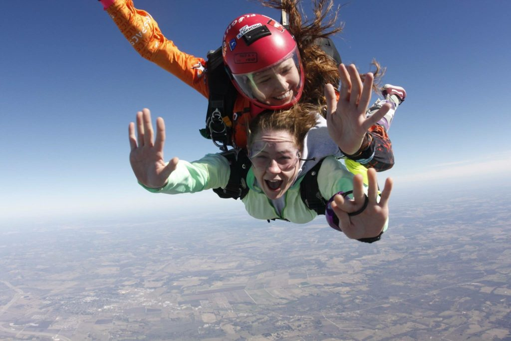 Ellie Skydiving